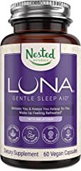 NATURAL SLEEP SUPPLEMENT | LUNA is a gentle herbal sleep supplement made with safe, naturally sourced, scientifically-backed ingredients that are non-habit forming and will encourage a healthy and balanced sleep schedule. DEEP, RESTFUL SLEEP EVERY NI...