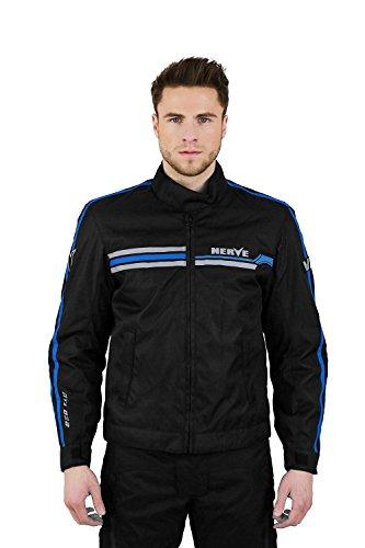 Nerve Chaqueta de Moto Swift, Negro/Azul, XL