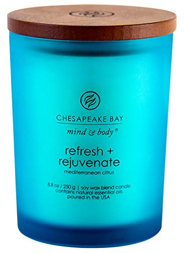 Chesapeake Bay Candle PT41312 Scented Candle, Refresh + Rejuvenate (Mediterranean Citrus), Medium