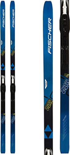 Fischer Voyager EF Mens XC Skis 184 w/Tour Step-in IFP Bindings Black/White