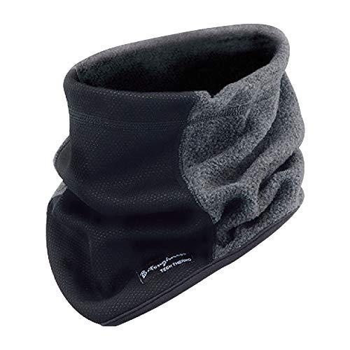おたふく手袋 ボディータフネス 発熱防風 保温 ネックウォーマー ブラック×グレー JW-124