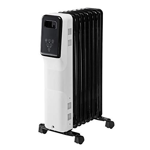 赤ちゃんにも安心。音がしない・乾燥しない・臭わない マイコン式オイルヒーター 空気がキレイ。乾燥しないからノドが痛くならない。暖房器具・8枚フィン・メーカー保証1年・リモコン付き・子供部屋・熱くならない・安心・安全/IFD-837オイルヒーター