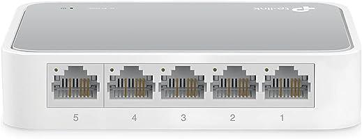 TP-Link TL-SF1005D - Switch Ethernet con 5 Puertos (10/100 Mbps, RJ45, Concentrador de ethernet, Plug and Play, sin...