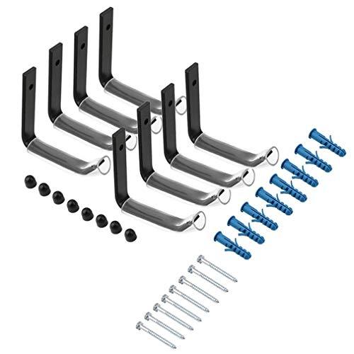 U-Kiss 8 Stück Steel Autoreifen Wandhalter Set Reifenhalter Felgenhalter Wandhalterung Felgen Reifen Wand-Halterung Baum Halter Garage Wandmontage
