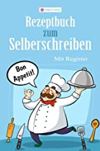 KREATIVUS Rezeptbuch zum Selberschreiben: Blanko Kochbuch mit Register