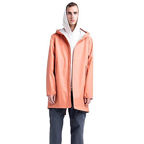 Herschel Rainwear Rain Jacket Poly Fishtail Carnelian Orange