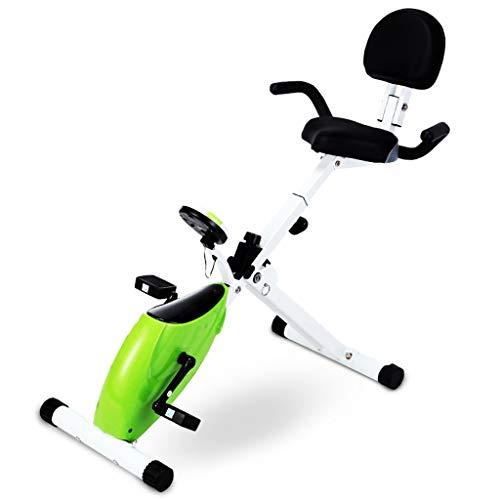 Cyclette Spinning Bike Mini Home Esercizio Bike Bici Office Pedal Indoor Magnetic Control Slimming Bike Attrezzature per Il Fitness (Color : Green)