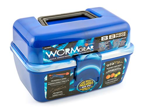 SouthBend WG-TB88-B Wormgear 88Pc Ld D Tackle Box Blue, Multi