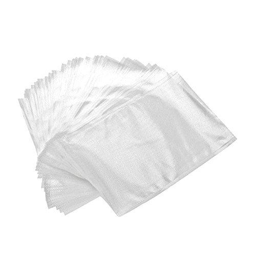 Juego de 100 bolsas con estampado en relieve para envasar al vacío, 20 x 30 cm