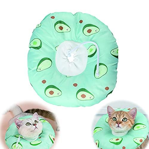 Collare per Recupero Gatto Regolabile Collare Elisabettiano Collare Protettivo Cono Collare Protettivo per Animali Domestici Collare Protettivo Gatto per guarigione ferite Dopo Intervento Chirurgico,S