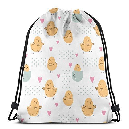 XCNGG Kordeltasche Kordeltasche Tragbare Tasche Sporttasche Einkaufstasche Einkaufstasche Bundle Backpack Outdoor Shopping Knapsack Lovely Chicks Just Hatched Eggshells Rope-Pulling Bag Sports Bag Sui