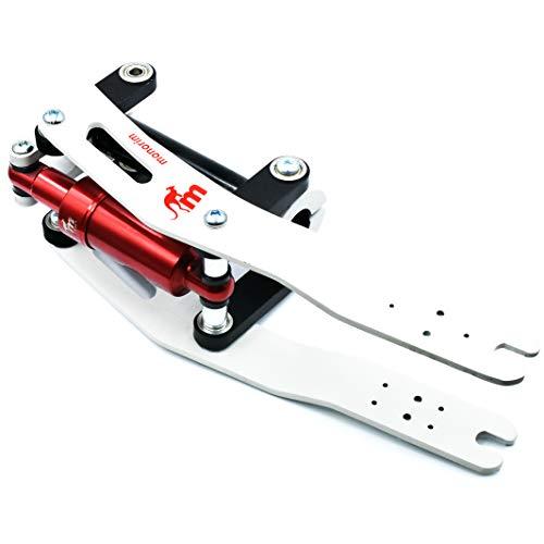 Kit de suspensión Monorim original V2 para los modelos M365, 1S, Essential, Pro del patinete eléctrico Xiaomi (White/Red)