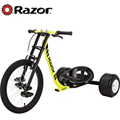 Where Downhill Meets Drift. Ages-14 and up. Maximum weight-198 pounds Steel trike style frame combined with Super Slider POM rear wheels Riders can power slide through corners, throw fish tails or fast 180s! Front free-wheel with BMX style platform p...