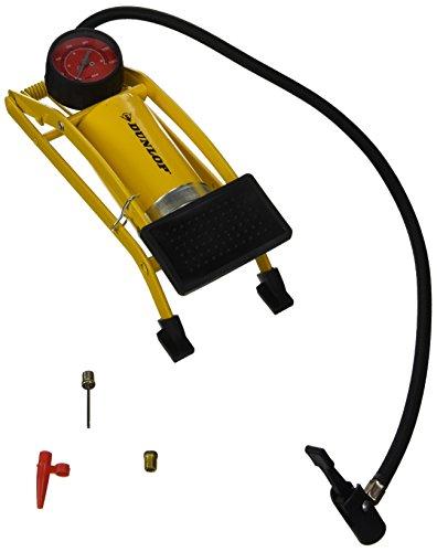Pompa a Pedale Gonfiatore a Cilindro Per Pneumatici Gomme Auto Moto Bici Dunlop