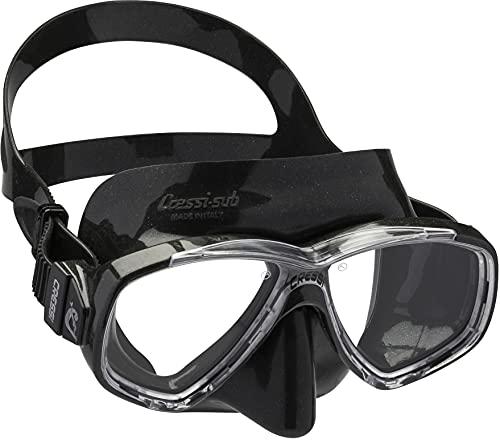 Cressi Unisex-Erwachsene Perla Mask Separate Glastauchmaske zum Angeln, Apnoe, Schnorcheln und Tauchen, Schwarz, Einheitsgröße