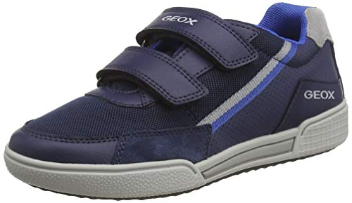 Geox Jungen J POSEIDO Boy F Sneaker, Blau (Navy/Grey C0661), 34 EU
