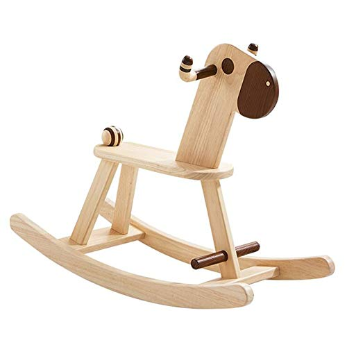 Best Buy! YUMEIGE Rocking Ride-Ons Rocking Horse,Wooden、Pony Look、Kid Rocking Toy,2 Years Ol...