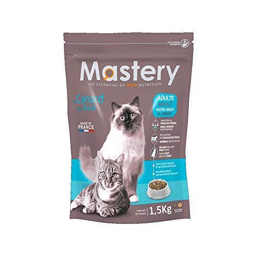Mastery Nourriture pour Chat Adulte Canard, Croquettes pour Adultes Chats - 3 kg