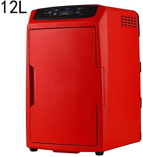Draagbare koelbox, compacte elektrische reizen, koelkast, thermo-elektrische koeler, koelt en verwarmt voor auto en camping, koel- en warmer, mini-koelkasten, 12 l levensmiddelen, drankjes, wijn te houden rood