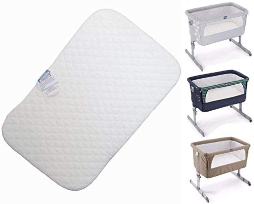 Next to me Chicco - Colchón para cuna de bebé compatible con Next2Me (83 x 50 x 5 cm) | Cómodo colchón ajustable para bebé | Protector acolchado transpirable y lavable