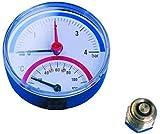0-2, 5 de reducción de temperatura y presión calibre - diseño de conexión