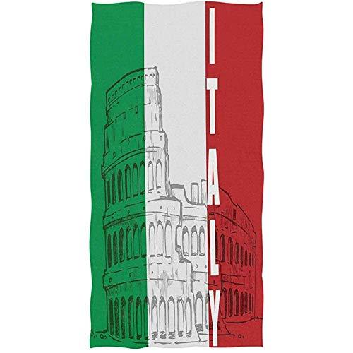 Weled Bandera Italiana Hito de Roma Coliseo Patrimonio de la Ciudad Paisaje Urbano Invitado Suave Gran hogar Decorativo Toallas de Mano