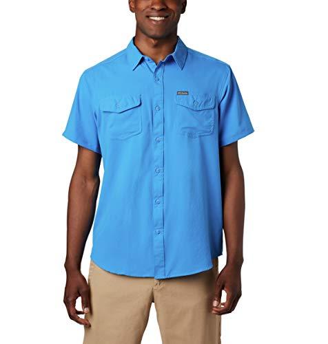 Columbia T-Shirt à Manches Courtes pour Homme, Homme, 1577765, Bleu Azur, XXL Grand