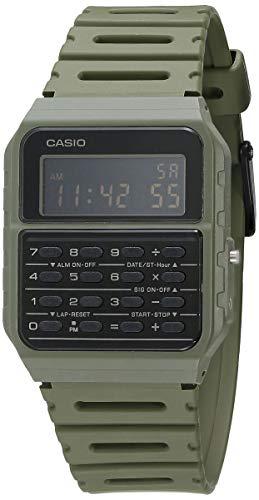 Casio Data Bank Quarzuhr mit Armband aus Kunstharz, Grün, 24.1 (Modell: CA-53WF-3BCF)