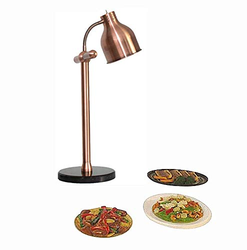 Commercial Heating Lamp Single Head 250w Buffet Insulation Table Lamp 500w Power Marble Base Professional Portable for Food Preservation,B2