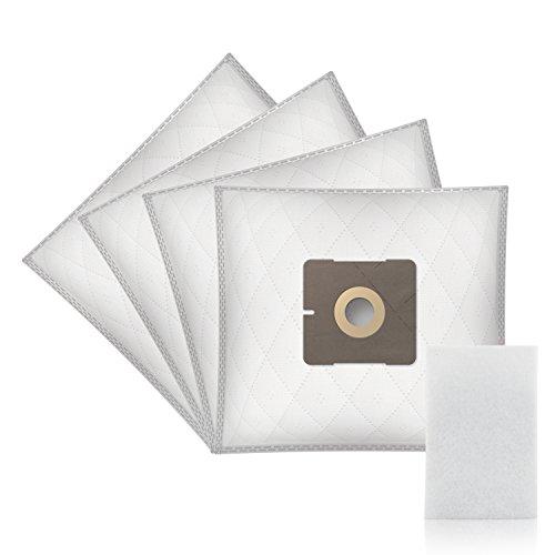 ✧WESSPER® Bolsas de aspiradora para Solac AB2845 Beagle Friend (4 piezas, sintéticas)