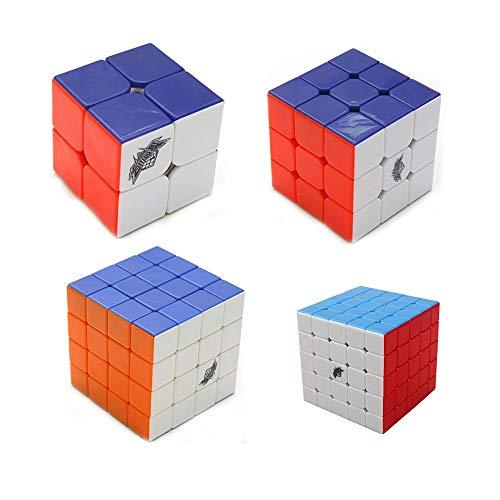 RENFEIYUAN Cyclone Boys 4 Pack MA Conjunto de 2x2x2 3x3x3 4x4x4 5x5x5 Professiional sin Etiqueta Rubik Cubo