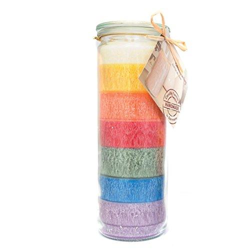 Candle Factory - Big Jumbo Kerze im Weckglas Farbe: Regenbogen