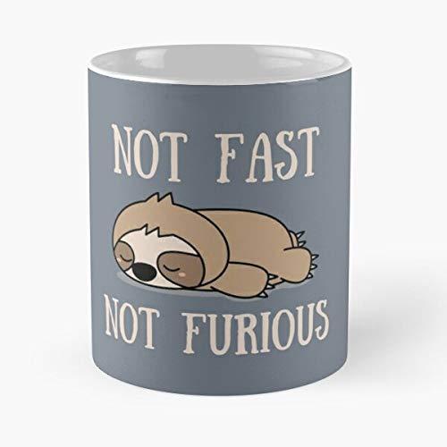 Desconocido Lazy Animal Band Nap Funny Sloth Humor Sleep Taza de café con Leche 11 oz
