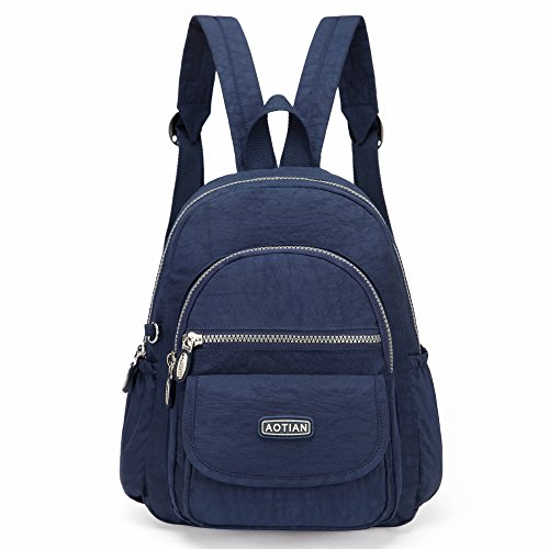 AOTIAN Nylon Lightweight Sturdy Little Casual Backpack 7 L Deep Blue