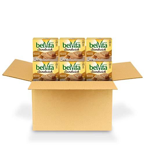 Belvita Sandwich Peanut Butter Breakfast Biscuits 6 Boxes of 5 Packs 2 Sandwiches Per Pack