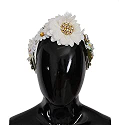 Yellow White Sunflower Crystal Women's Headband
