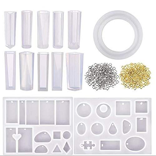 YOUTTOO 213 stks hars gieten mal kit siliconen voor ketting DIY sieraden hanger ambachtelijke maken Gadget