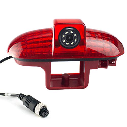 HD Auto Rückansicht Kamera Bremsleuchte Rückfahrsystem im 3.Bremslicht mit Rückfahrkamera Ersatz für Opel Vivaro surf Concept/Life/Combo/Vauxhall/Renault Trafic/FIAT Talento/Primastar Van