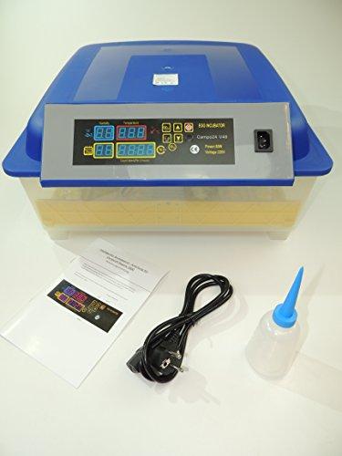 Campo24® V48 + 5 tlg. Zubehör Motorbrüter für bis zu 48 Eier/Inkubator/Vollautomatischer Motorbrüter/ Incubator