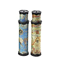 When it is stretched,the length is about 29cm.When it is contraction,the length is about 20cm. Kaleidoscope is a way for children to find joy. The kaleidoscope can exercise your eyes and alleviate eye strain. This simple toy is a great and special gi...