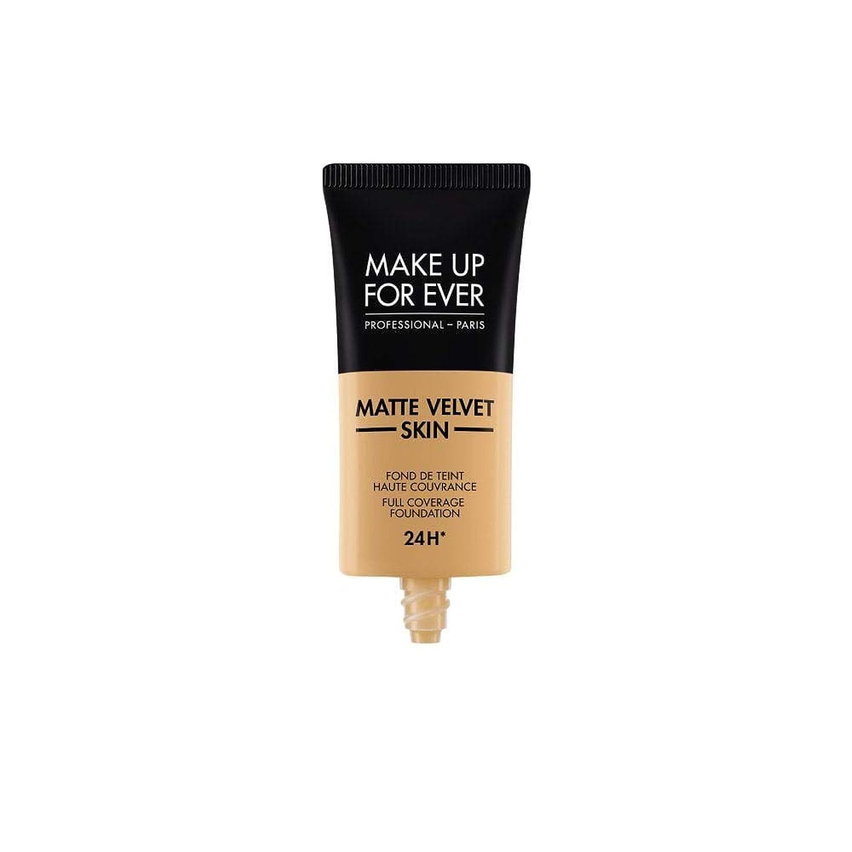 変化する作り誇張するメイクアップフォーエバー Matte Velvet Skin Full Coverage Foundation - # Y405 (Golden Honey) 30ml/1oz並行輸入品