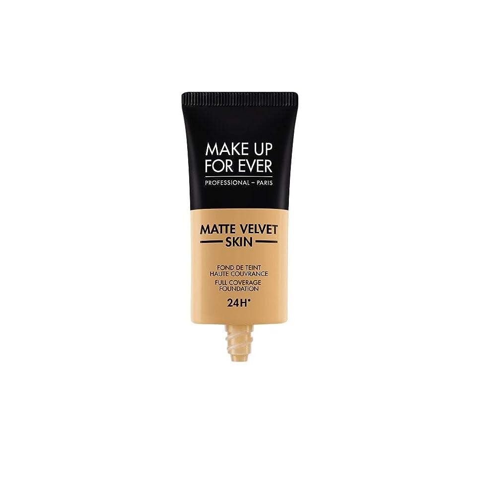 ドナーボット意図的メイクアップフォーエバー Matte Velvet Skin Full Coverage Foundation - # Y405 (Golden Honey) 30ml/1oz並行輸入品
