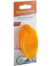 Prophete Spaakreflectoren met veiligheidsclips, 4 stuks spaakreflectoren, oranje, L