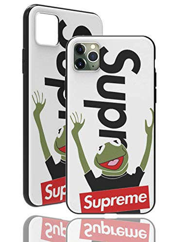 SUP Frog Case [ compatible with Apple iPhone XR - 6.1', in white ] SUPREME x Kermit the frog smartphone cover - perceptible 3D-Motif…