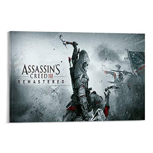 Póster de juego de Assassin's Creed Video 3 juegos Remastered Lienzo Art Póster y arte de pared Impresión de arte moderno para dormitorio familiar 30 x 45 cm