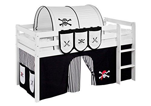 Lilokids Vorhang Pirat Schwarz Weiß - für Hochbett, Spielbett und Etagenbett
