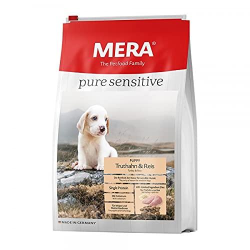 MERA pure sensitive Puppy, Hundefutter mit Truthahn und Reis, Trockenfutter für sensible Hunde, gut verträgliches und hochwertiges Welpenfutter, 12,5 kg