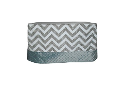 Baby Doll Minky Chevron Crib Skirt/Dust Ruffle, Grey