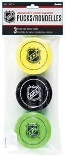 Franklin Sports NHL Foam Mini Hockey Pucks 3-Pack