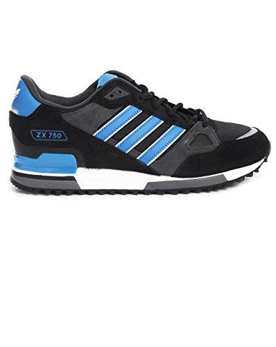 adidas - Sneaker - Herren - Sneaker ZX 750 aus schwarzem und königsblauem Veloursleder für Herren - 43 1|3